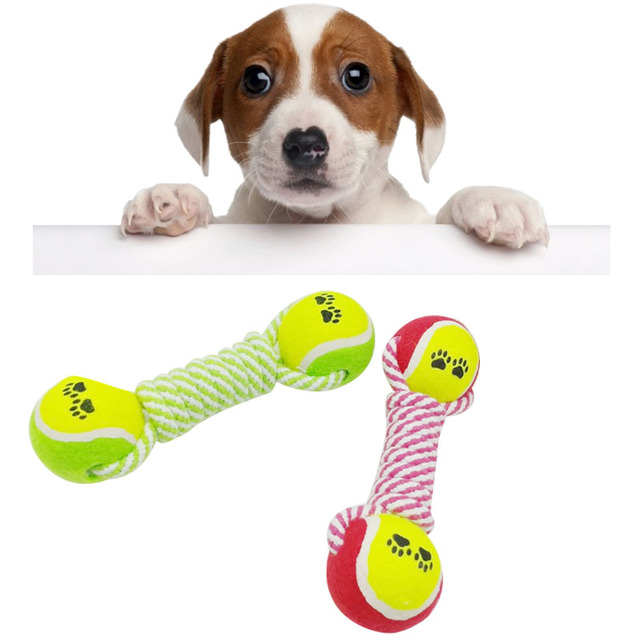 Tennis Cotton Rope Dog Toys For Small Dogs Jouet Chien Pet Puppy Chew Cute Ball