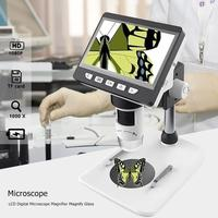 50X/1000X Digital Microscope Desktop LCD Electronic Microscope HD 1080P Portable Desktop LCD Microscope Support 10 Languages