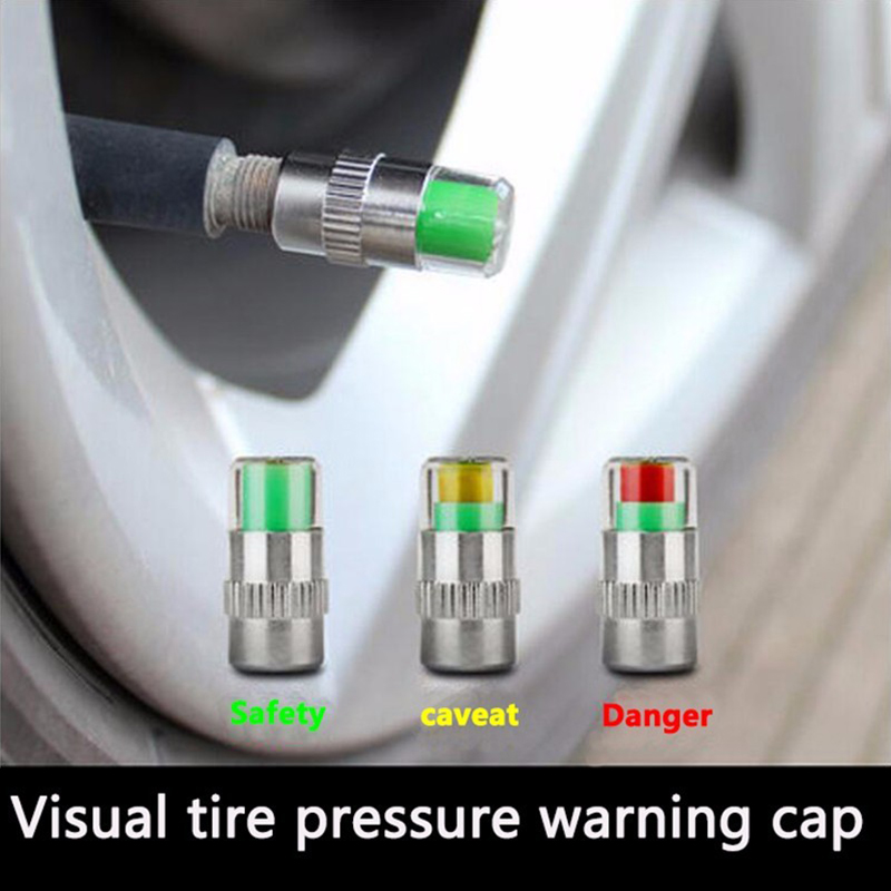 Tire Pressure Monitor Pressure Gauge Cap Sensor Indicator Alert Monitoring Valve Stem Cap Tools Kit 2.0/2.2/2.4 Bar 30/32/36 PSI