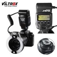Viltrox JY 670C DSLR Camera photo LED TTL Macro Ring Lite Flash Speedlite Light for Canon 1300D 800D 77D 5D Mark IV 7D II 6D 80D