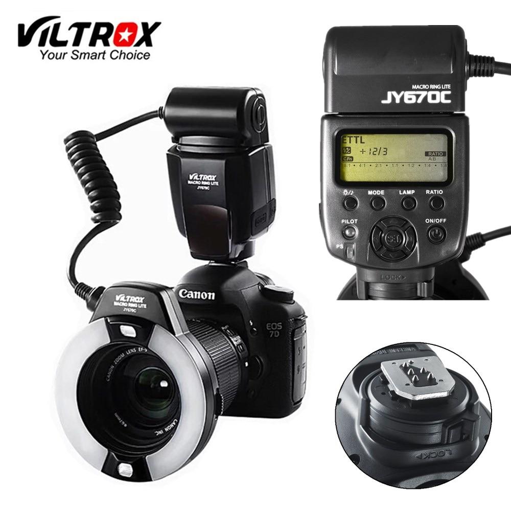 Viltrox JY-670C DSLR appareil photo LED TTL Macro anneau Lite Flash Speedlite lumière pour Canon 1300D 800D 77D 5D Mark IV 7D II 6D 80D
