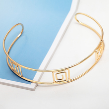 2016 New Arrival Gold Plated Open Choker Necklace Europe Punk Style Gothic Alloy Chain Choker Jewelry For Best Friend Party Gift
