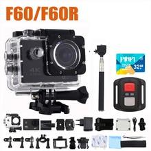 2017 goldfox H9 Стиль F60/F60R Спорт действий камеры mini cam Ultra HD 4 К Wi-Fi 1080 P 170D велосипед шлем CAM видеокамера Автомобильный видеорегистратор