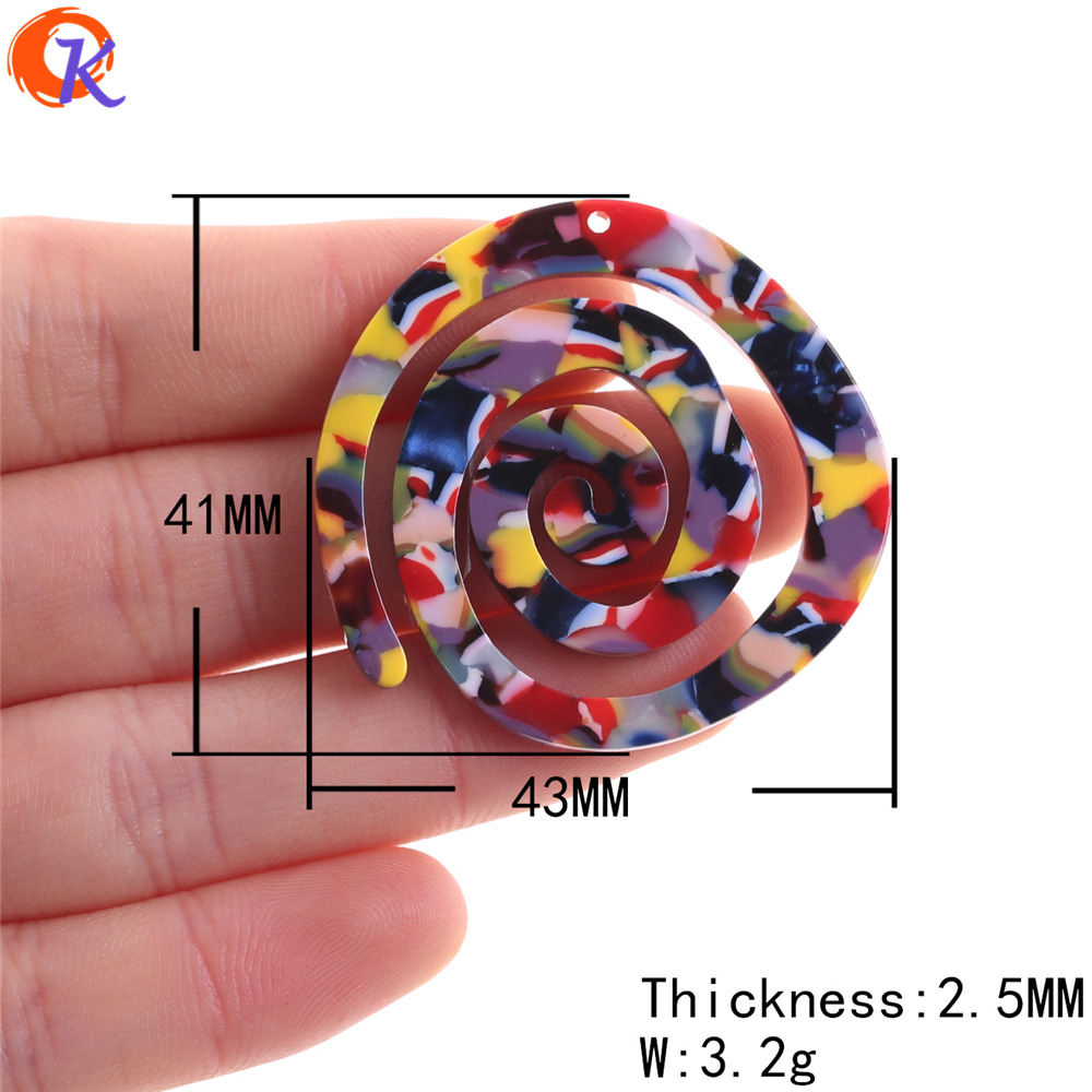 Image 2 - Cordial Design 30Pcs 41*43MM Jewelry Accessories/Acetic Acid Beads/DIY/Spiral Shape/Earring Making/Hand Made/Earring Findings-in Beads from Jewelry & Accessories