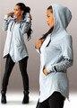 Estilo Harajuku Mulheres Hoodies Camisolas Carta Impressão Feminino de Manga Comprida Com Capuz Sportswear Meninas S-5XL Tamanho Pullover Treino