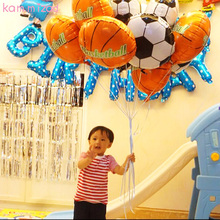 10pcs/lot football balloon foil balloons 18inch metallic for decoration kids birthday party decorations ballon