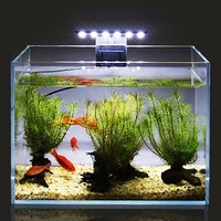 110 v led 수족관 빛 방수 클립 온 램프 수생 식물 조명 미국 플러그 에너지 절약 미국 표준