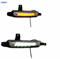Car Stlying 12V LED Daytime Running Light DRL Fog Lamp Decoration For Suzuki VITARA 2014 2015