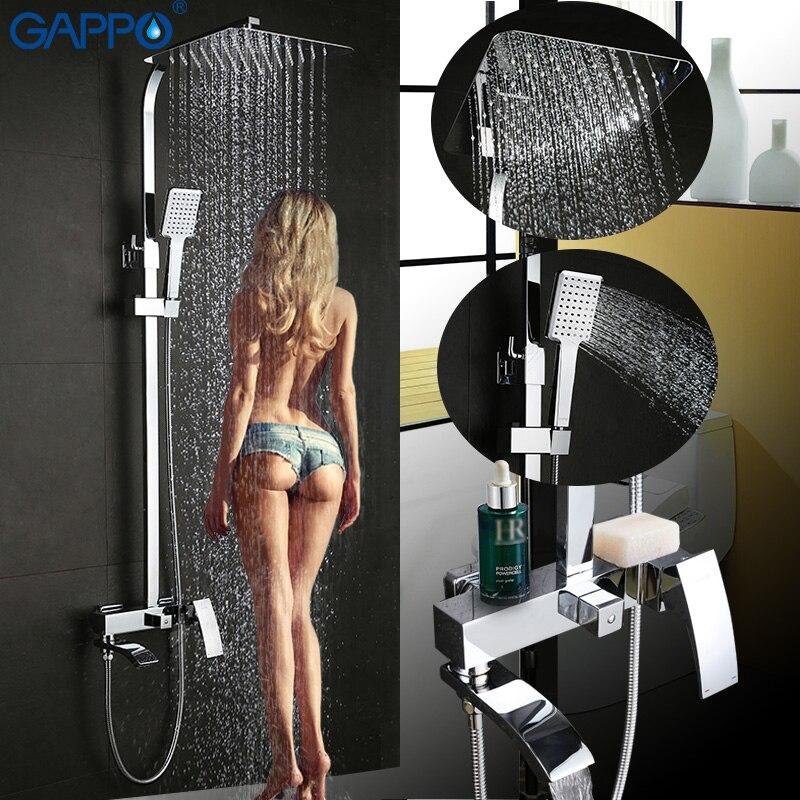 GAPPO badewanne wasserhahn wand montiert badezimmer dusche wasserhahn set Bad Dusche wasserhahn wasserfall edelstahl dusche kopf dusche wand mischer