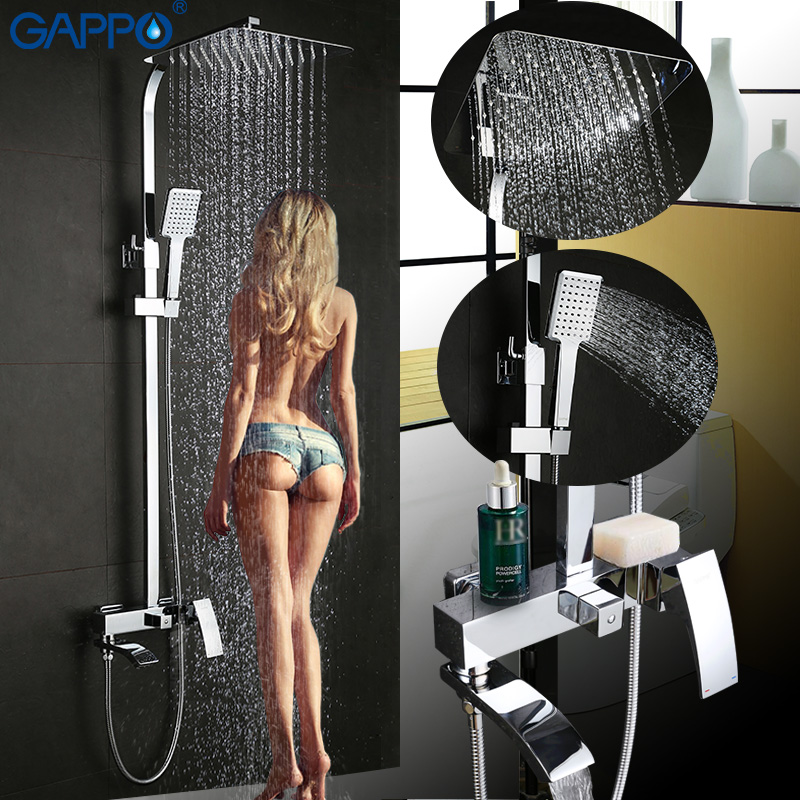 GAPPO robinet de baignoire mur monté salle de bains robinet de douche ensemble De Bain De Douche de bain mélangeur robinets cascade inoxydable douche tête de douche