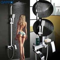 GAPPO robinet de baignoire mural salle de bain robinet de douche ensemble bain douche mitigeur de bain robinets cascade inoxydable pomme de douche