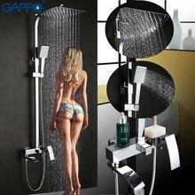Gappo浴槽の蛇口ウォールマウント浴室のシャワー蛇口セット浴室のシャワー浴ミキサータップ滝ステンレスシャワーヘッドシャワー