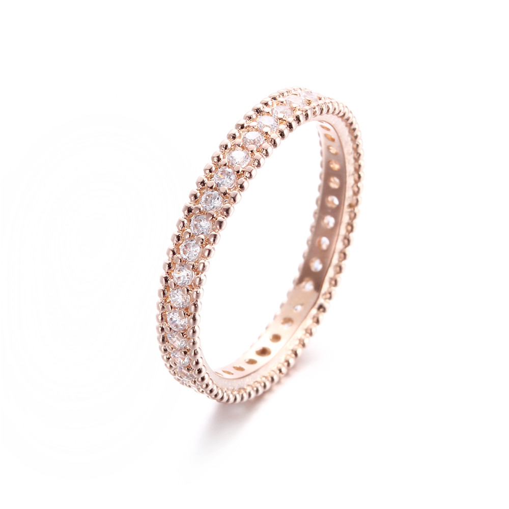 DODO 585 Rose Gold color Engagement Ring Jewelry For Women Wedding Band Anillos Bague Bijoux argent Crown ring bijouterie DR197 1
