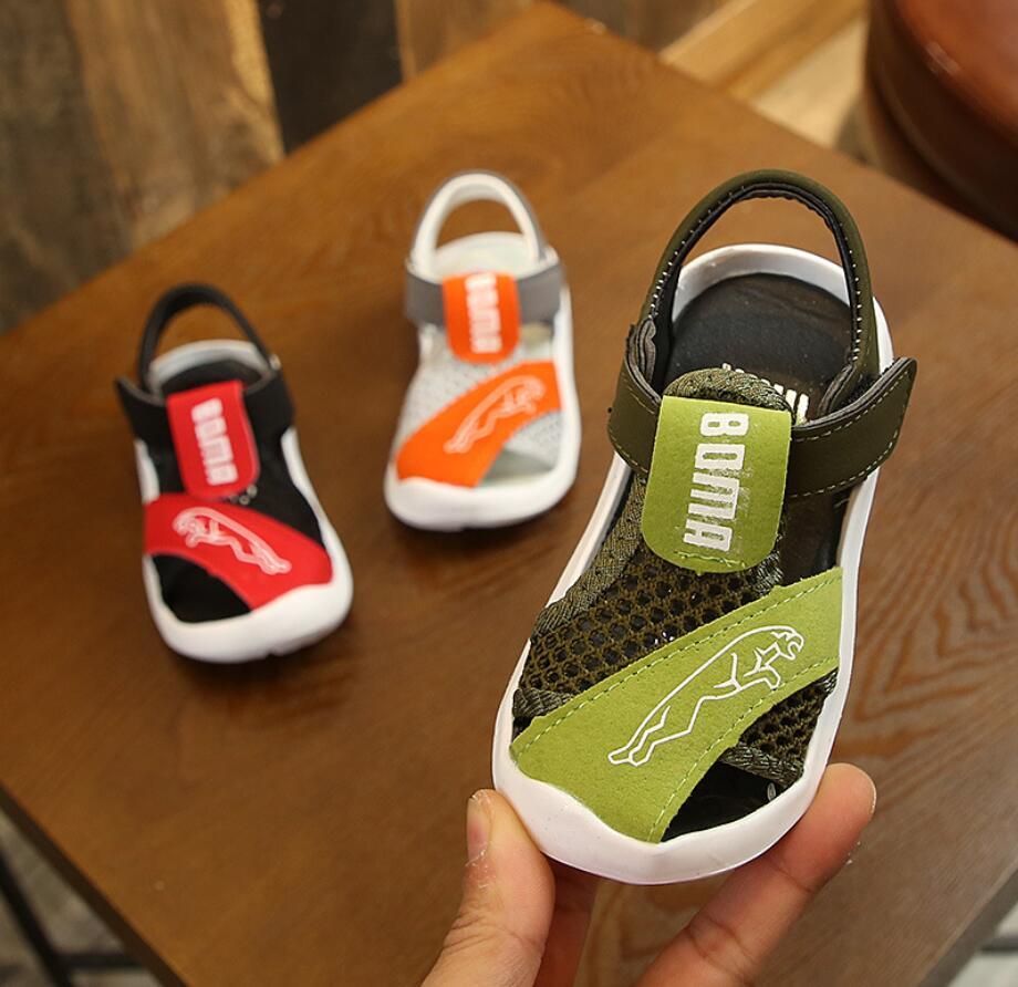 2020 Spring&Summer Children Cartoon Sandals New Boys Girls Soft Bottom Beach Sport Shoes Girls Functional Sports Sandals