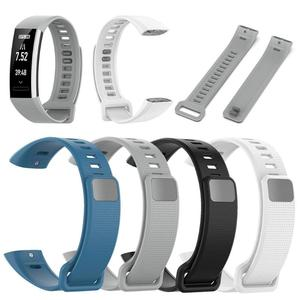 Image 2 - Мягкий силиконовый регулируемый браслет, ремешок для часов, сменный ремешок для Huawei Band 2/Band 2 Pro/ERS B19/ERS B29