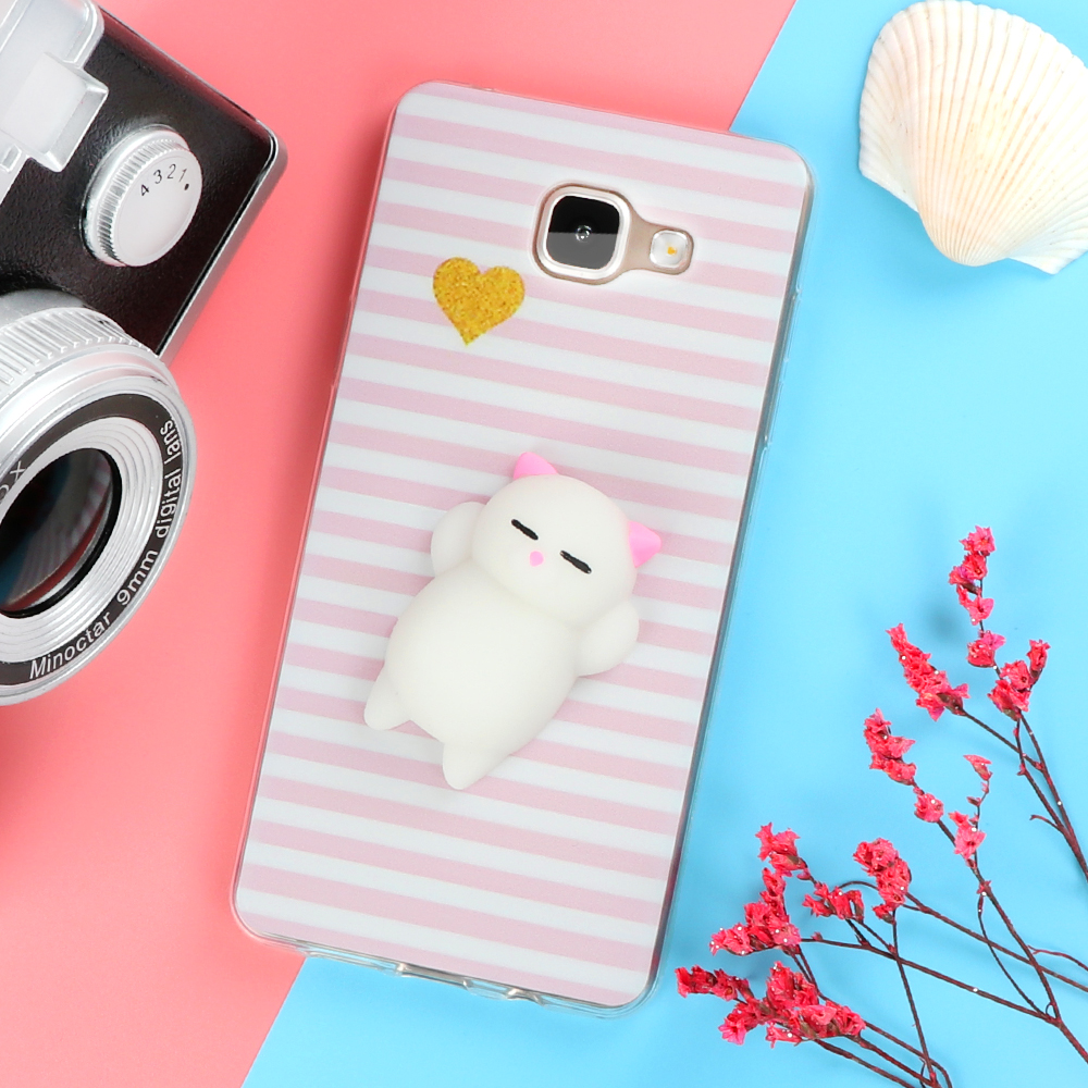 Funny Cute Cat Squishy Phone Case for Samsung Galaxy