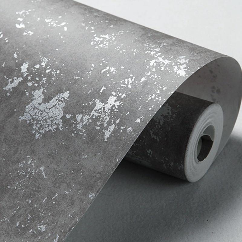 Beibehang Imitation Concrete Wall Modern Plain Solid Abstract Stripes Metallic Texture Vinyl Wallpaper For Walls Roll Flooring