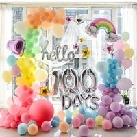 Candy Balloon Pastel Color Girl hello 100 days 30 50 60 Year Birthday Party Balloon Garland Rainbow Baby Shower Birthday Decor