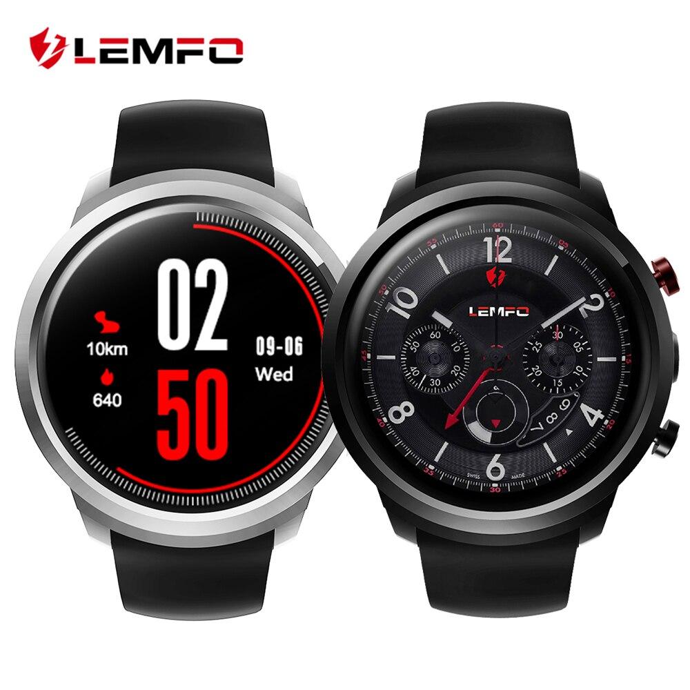 LEMFO LEF2 Android 5.1 Inteligente Watch Phone Dois Modos MTK6580 Quad Core 512 MB + 8 GB Freqüência Cardíaca Smartwatch Monitor de