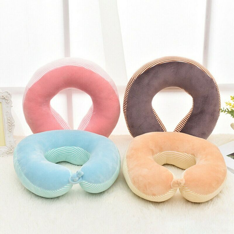 U Shape Travel Pillows For Airplane Memory Foam Neck Pillow Comfortable Neck Support Cushion For Kids Adults Car Office Sleeping image