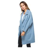 TFGS Women New Fashion Spring Autumn Long Sleeve Hooded Denim Jacket Vintage Loose Denim Coats Female