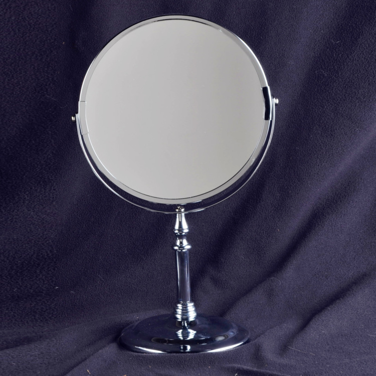 ФОТО 8 inch tower mirror double-sided European style HD desktop mirror to enlarge the size of the mirror