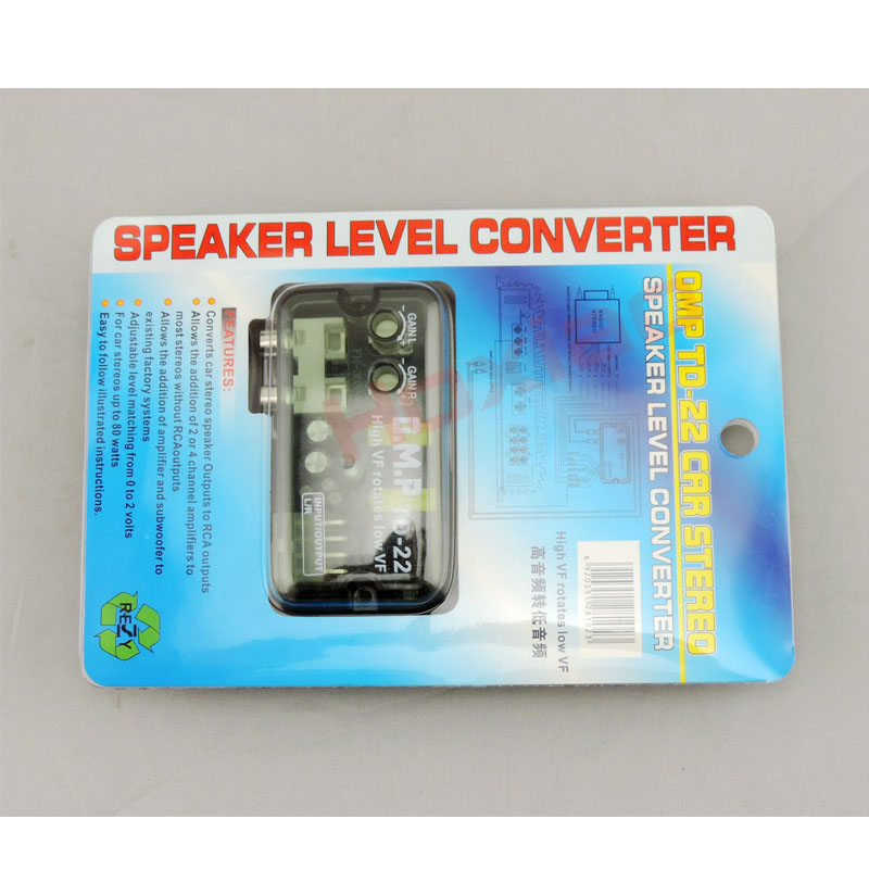 12V Universal RCA Line Car Subwoofer Stero Radio Converters Speakers High To Low Car Audio Amplifier Impedance Converter 6