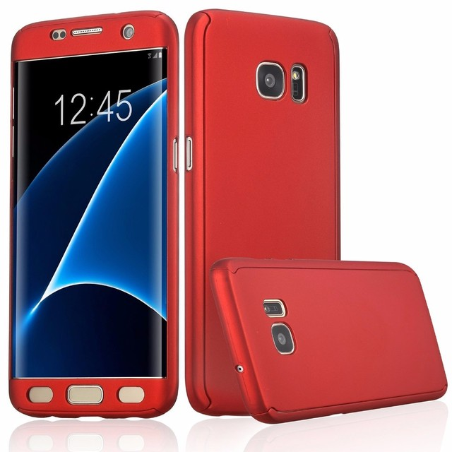 sports shoes 4e15b d0ad5 US $3.99 |360 Degree Protection Full Body Protective Case For Samsung  Galaxy S8+ S8 Plus S7 Edge S6 Edge Phone Bags Hard PC Cover Cases-in Phone  Pouch ...