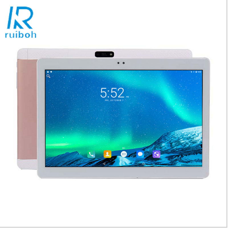 He Yin Tablet Co Store 10.1inch 4G Lte Tablet PC Google Android 6.0 Quad Core 4G RAM 32GB ROM Dual SIM Cards 5.0M Camera Bluetooth GPS Tablet 10 + Gift