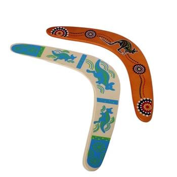 Kangur Throwback w kształcie litery V bumerang latający dysk rzut złap gra na zewnątrz tanie i dobre opinie OOTDTY Drewna Chwytając ruch zdolność rozwoju blue 35cm Other 5-7 lat Baseball Unisex