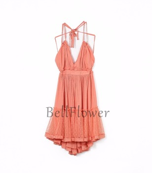 BellFlower 2018 Summer Bohemian Women Mini Dress  Backless Beach Dress Holiday Boho Strapless Sexy Ball Gown Hippie Chic Dress  4