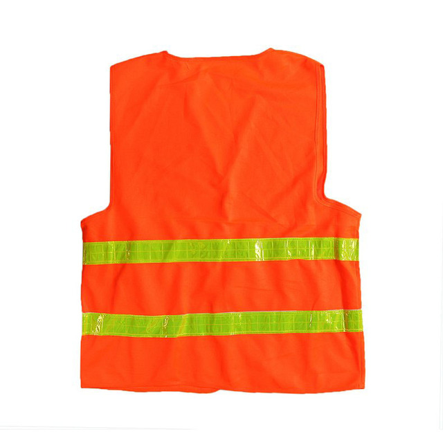 High visibility reflective safety vest for running cycling Safety vest Polyester Strips work safety clothing chaleco reflectante
