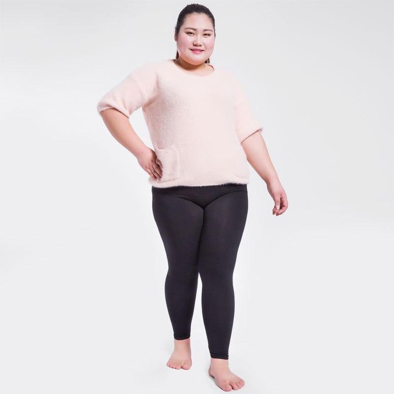 2018 Dame Große Größe L Xl Herbst Winter Fitness Legging Stretch Nahen Taille Push-up-leggings Modal Und Baumwolle Gemischt Warme Hose