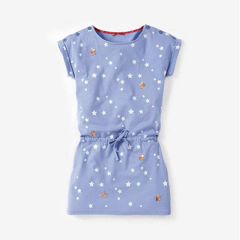 Princess Girl Dress Kids Dresses for Girls O-neck Mini Cotton Dresses Fashion Baby Clothes