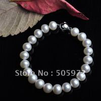 HOT PROMOTION!!! FREE SHIPPING AAA Best Standard Exqusite Pearl Bracelet Jewelry 8 9mm Beads Costume Jewellery with Silver Clasp