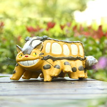 Large Kawaii Cartoon Cute Adorable Wild Striped Cat Bus Animation Design Flower Pot Succulent Planter Desk Decor 2019