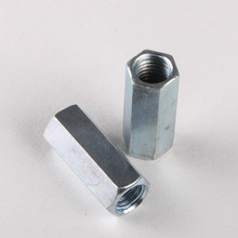 1PCS Low Price Galvanized Hex Nut Screw Coupling Nut Lengthened Nut M6 *20