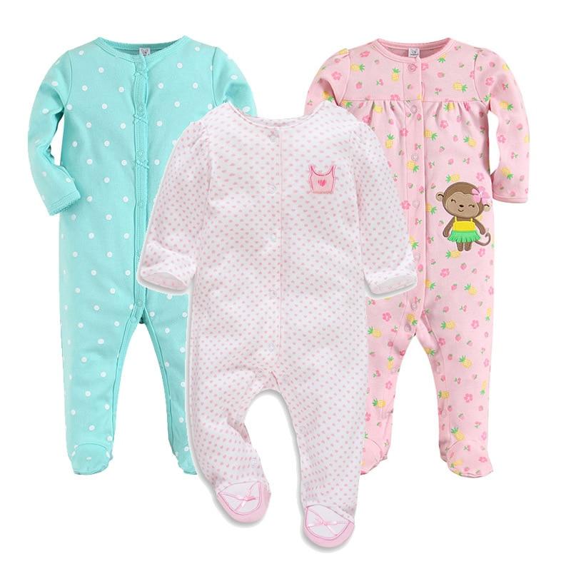 Newborn Baby Clothes Premature Baby Clothing Boys Jumspuit Girls Romper Cotton New Born Bebes Pajamas