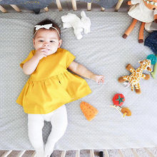 Infant Summer Dress Cute Baby Girl Princess Party Wedding Tutu Dresses Fashion Toddler Yellow Outfits