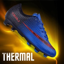 2018 New Men Boy Kids Soccer Cleats Turf Football Soccer Shoes TF Hard Trainer Sports Sneakers Cleats Football Boots Size 33-44