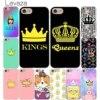 Lavaza Pink Yellow cute SpongeBob Squarepants Queen Princess King Cover Case for iPhone 7 7 Plus 6 6S Plus 5 5S SE 4 4S Gold