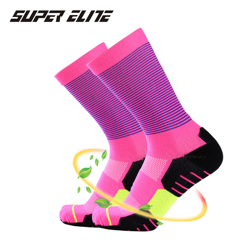 Super Elite New High Quality Professional Brand Sport Socks Breathable Road Bicycle Outdoor Sports Racing Cycling Thermosocks