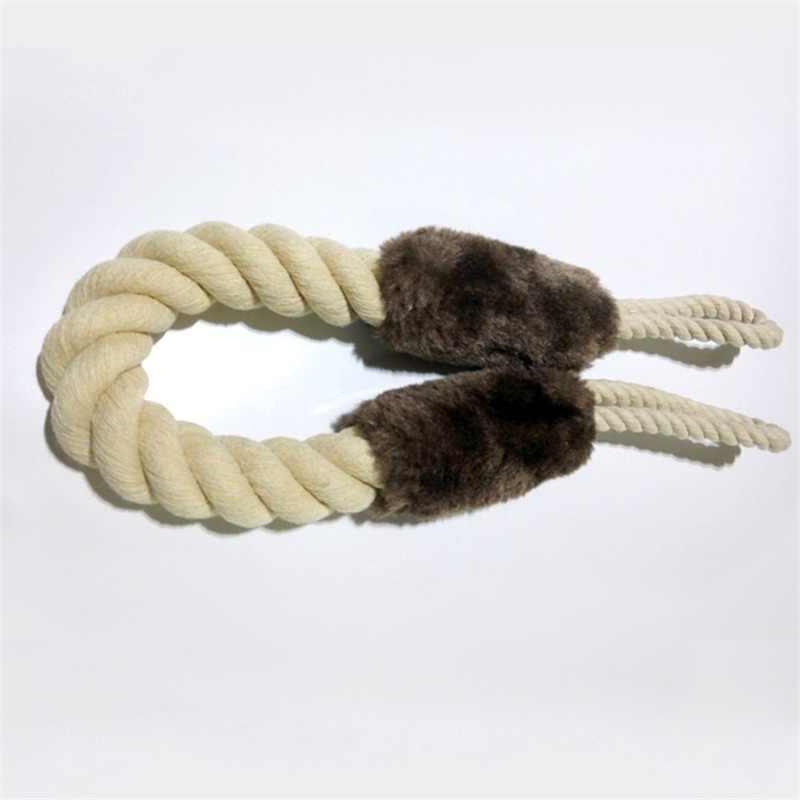 Фото Собака игрушки хлопковая веревка игрушка для домашних животных чистки зубов