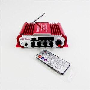 Image 5 - HY600 מיני מגבר לרכב מגבר 20 W + 20 W FM אודיו מיקרופון MP3 רמקול סטריאו מגבר עבור אופנוע רכב בית שימוש