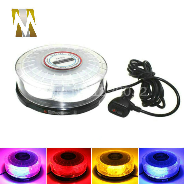 Magnetic mounting 12V 24V 72W Car Auto LED Beacon Round Emergency Recovery Flashing Warning Strobe Light Lightbar Amber Red Blue sitemap 158 xml