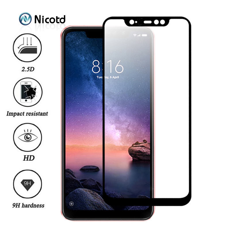 Nicotd Tempered Glass For <font><b>Xiaomi</b></font> <font><b>Redmi</b></font> Note <font><b>6</b></font> Pro 4X 4A 5A 5 Plus Screen Protector For <font><b>Redmi</b></font> 6A <font><b>6</b></font> Note 5A 5 Pro Full Cover Film image