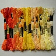 7-я нить DIY DMC 3740-3787 вышивка нитью нитки 10 шт./лот 8 м Набор для вышивки крестом наборы для вышивки крестом 11,12
