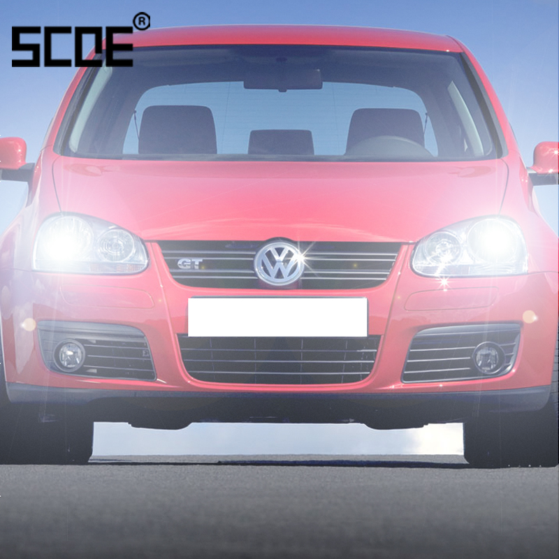 For Volkswagen Golf V Golf VI Jetta IV SCOE 2PCS Auto High Beam Super Halogen Bulb Headlight Car Styling warm white vicor vi bw3 cv vi bw3 iv vi bw3 ev