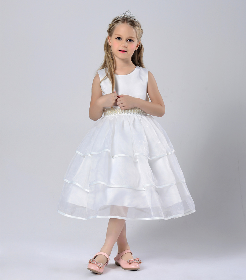 Children clothing year 6 7 8 9 10 11 girls layered prom for 10 year old dresses for weddings