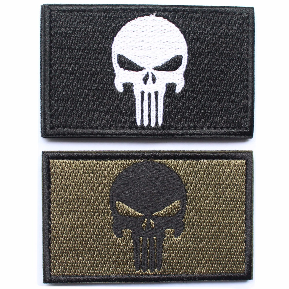 Punisher Skull Patches millitary patch American USA Thin blue line - Arts, Crafts and Sewing - Photo 6